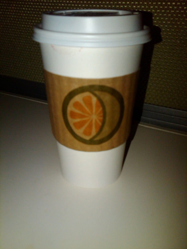 A cup of coffee, from Lemon Moon