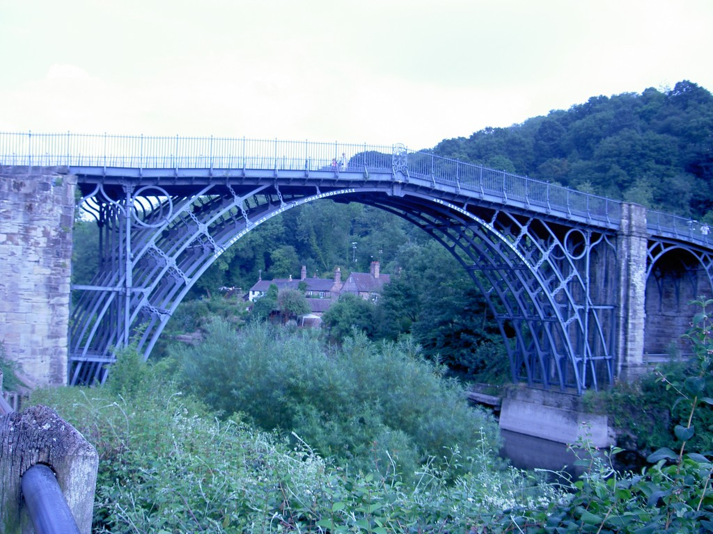 A photo of the world's oldest Iron Bridge
