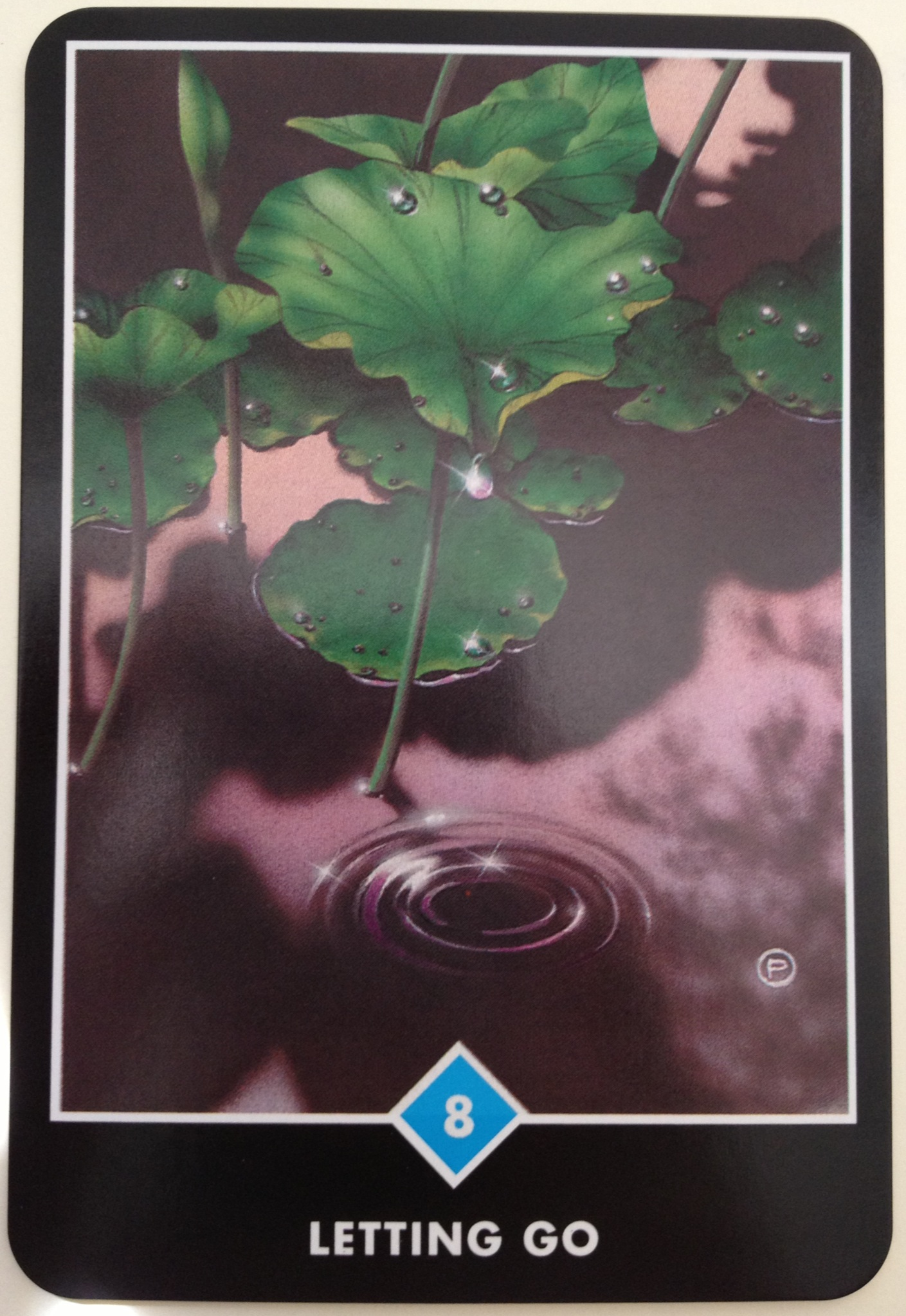 Osho Zen Tarot Card - The 8 of Water (Letting Go)