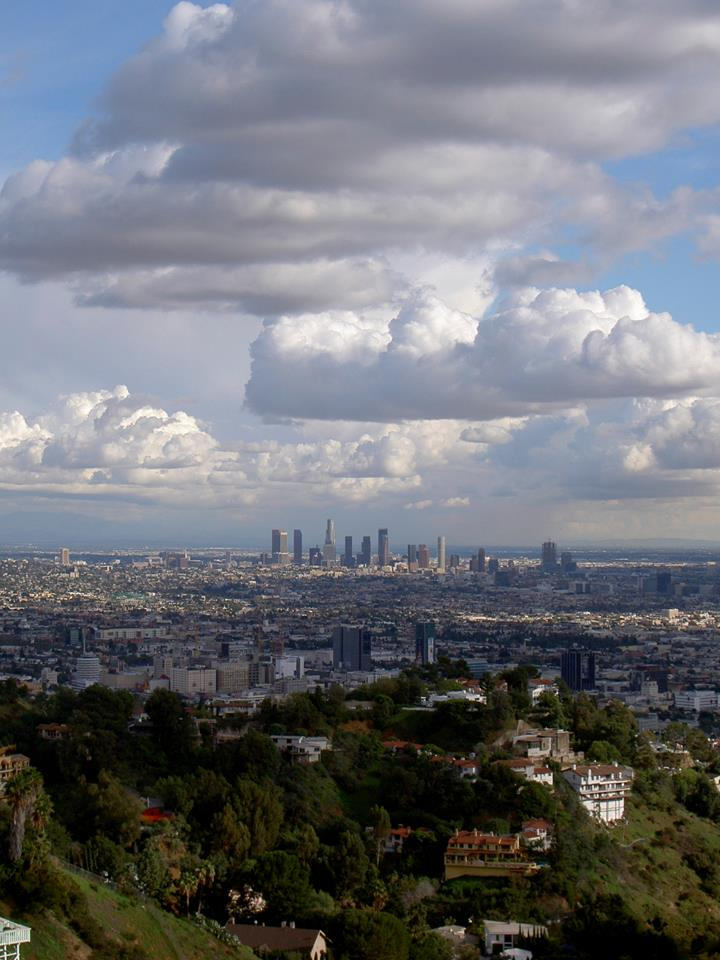 Los Angeles as viewed from Mulholland Drive, February 2009.